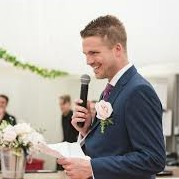 Groom giving speech